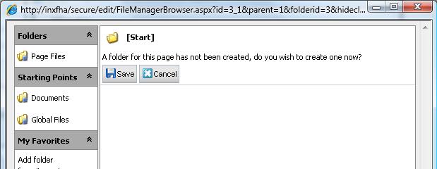 Configure EPiServer File Manager